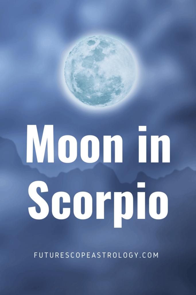 Moon in Scorpio or Vruschika in a Horoscope